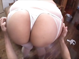 Random Shit Asian Girl Fucking Self with cucumber.