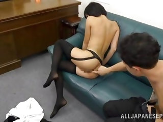 Takes her panties off then she uses her sex toy