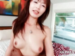 Black huge pecker drilling asian pink slick horny pussy