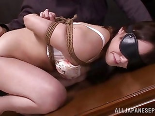 Asian milf getting jabbed with all kinds of rods